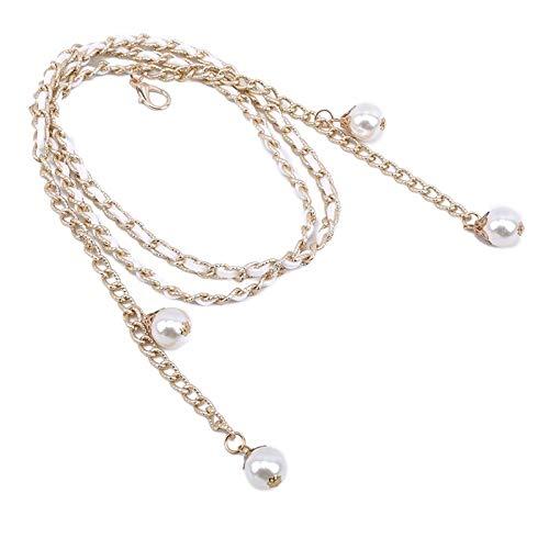 LPZW Cinturones de Plata de la Cintura Alta para Las Mujeres de la Moda de la Moda Cinturón de Todos los Partidos para el Vestido de la joyería del Partido Cintura de la Cadena de Metal de la Cintura