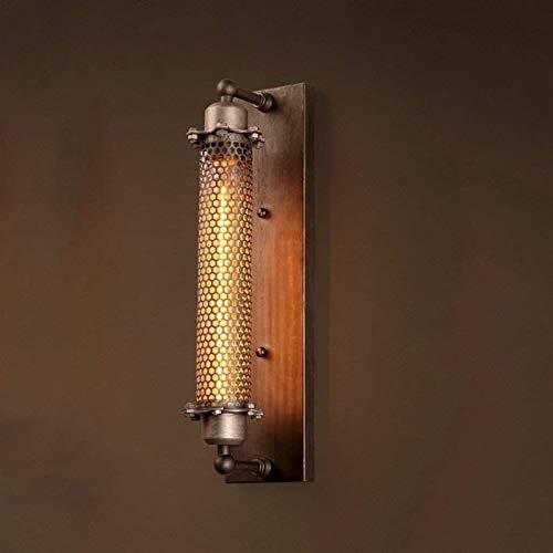 Luces de pared industriales, Hierro metal lámpara de pared vintage luces industriales aceite frotado moho mini cable de alambre pared luz retro e27 edison baliza lámpara tubo lámpara casera pared esco