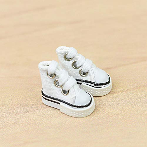 Doans Newest Mini Finger Shoe 35cm Canvas Minishoes Mini Sneakers Cute Skateboard Shoe para Finger BreakdanceDiapasónZapatos de muñecaFabricación de llaveros para Zapatillas Cosy