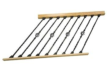 DIY Indoor Stair Rail Section Kit with Black Metal Balusters  Double Twist Single Basket   Rake 4ft