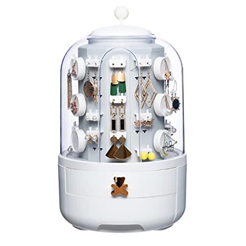 SHAMATE Caja de almacenamiento de caja de regalo de almacenamiento de joyería multifuncional de gran capacidad, caja de joyería accesorios de joyería (Color : White, Size : Mcode)