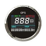 XIXI-Home 52mm Digital GPS Odómetro de velocímetro 0~999 mph Knots KM/H Medidor de Velocidad de Acero Inoxidable 316 Ajuste para EL Coche Motorcycle Boat RV (Color : BS)