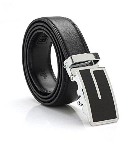 SAMGU Neuf Ceintures de cuir noir boucle de ceinture automatique de la mode masculine Couleur Noir