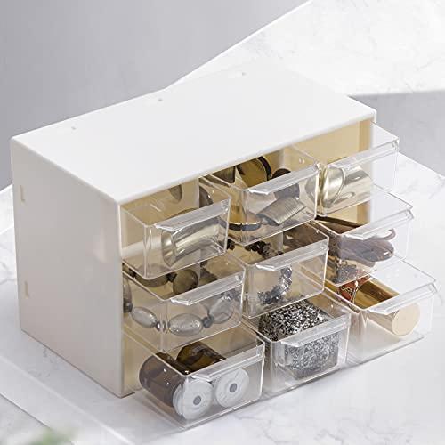 Xnuoyo 9 Cajones Múltiples Organizador de Gabinete de Almacenamiento Cofre de Almacenamiento de plástico Papelería de oficina Caja de artesanía Cajones Caja de almacenamiento para piezas