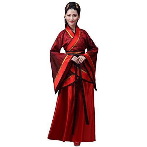 Inlefen Hanfu Vestito per Donne Antico Stile Tradizionale Retro Cinese Vestito Costume da Prestazione