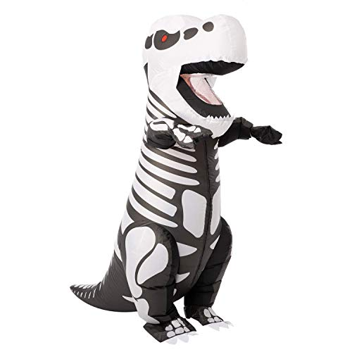 Spooktacular Creations Inflatable Halloween Costume Skeleton Dinosaur Full Body T-Rex Inflatable Costume – Adult Unisex One Size