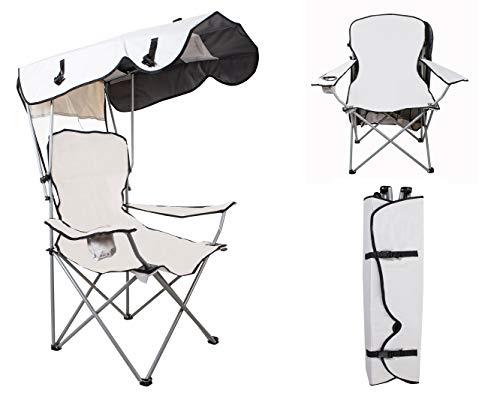 MT MALATEC Angelstuhl Klappstuhl Campingstuhl bis 120 kg Faltbar mit Tragetasche Dach 10044, Farbe:Grau