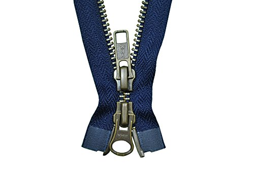 YKK Reißverschluss 2 Wege teilbar marineblau 85 cm Metall Metallzähne
