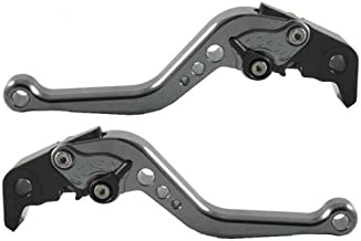 US-214 Short Motorcycle Brake and Clutch Levers for TRIUMPH 675 STREET TRIPLE 2008-2015-Gray