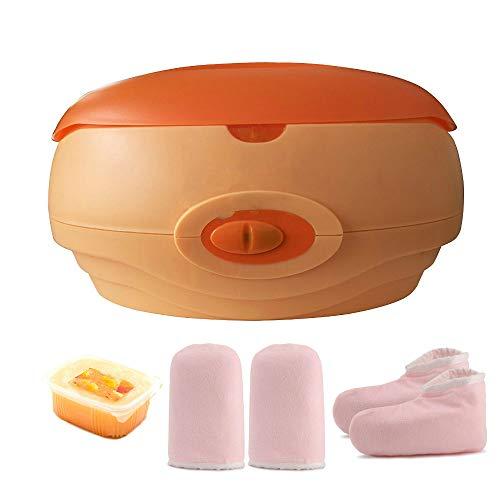 Calentador de parafina baño Cera de parafina Calenta muy Rápido +Juego botines aguantes+parafina 500ml