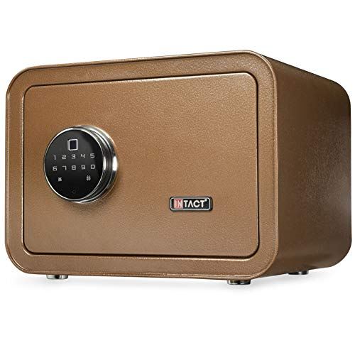 Purchase Intact Compact Quick Access Biometric Fingerprint Gun Safe With Nex-Gen Full Keypad Module Wide Bronze