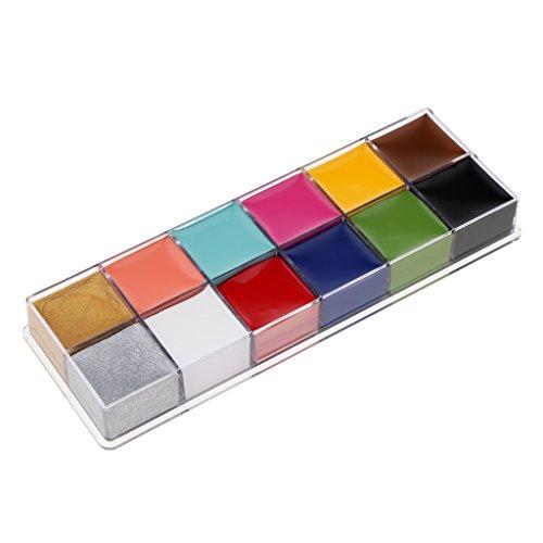 MagiDeal 12 Peinture de Corps/Visage Colorants de Maquillage pour Partie de Déguisement d'Enfants