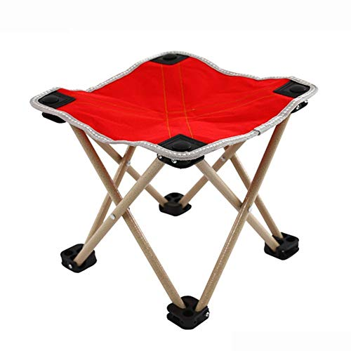QTQZDD Stool Little Mazza Multifunction Portable Foldable Non-Slip Breathable Simple American Country, 3 Colors Dual-use (Color : Blue, Size : 28x28x26cm)