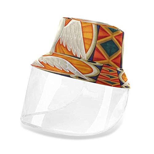 Pentecostés Sombrero de palomas con protector facial para hombres y mujeres, protección solar Multicolor multicolor 54/57 cm