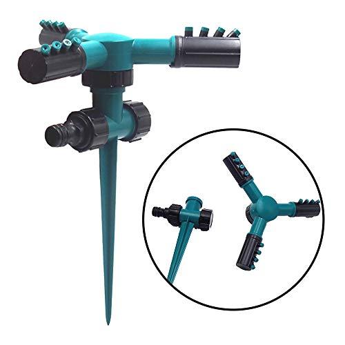 HXIANG Sproeier van het gazon Automatisch 360 graden draaibare Garden Water Sproeiers Tandem Pin Nozzle irrigatiesysteem Pijp Slang Tuingereedschap