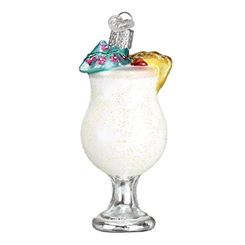 Old World Christmas Pina Colada Adult Beverages Glass Blown Ornaments for Christmas Tree