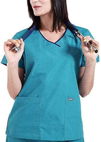 Miaoao-HL Scrubs Uniforms, Verpleging Top,Werkkleding gebruikt in het ziekenhuis,Apotheek, Schoonheid Spa
