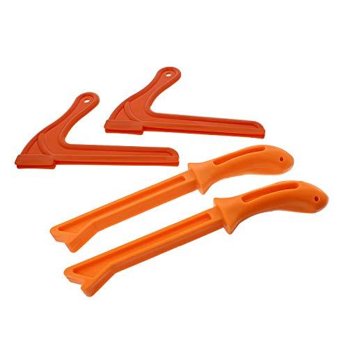 DCT 4 Pack Safety Push Sticks – Straight Table Saw Push Blocks and V Style Push Sticks Wood Working Push Stick Set