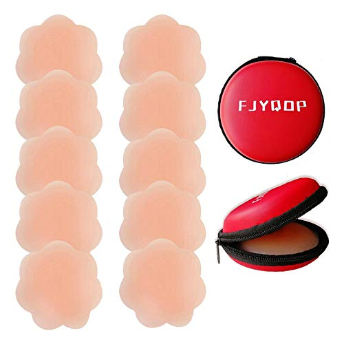 Silicone Nipple Covers - 5 Pairs, Women's Reusable Adhesive Invisible Pasties Nippleless Covers