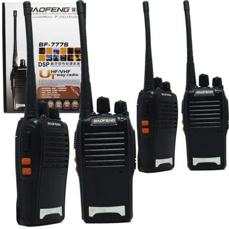 Kit 4 Radios Comunicador Walk Talk Baofeng Bf-777s + Fone