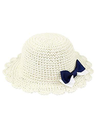 Bebé Niñas Sombrero para el Sol Sombrero de Paja Plegable
