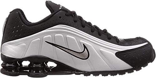Nike Herren Shox R4 (Black/Black-Metallic-Silber), Schwarz (Black/Black-metallic Silver), 38.5 EU
