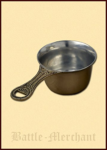 Patera, römische Lagerpfanne, verzinntes Messing Bratpfanne Kochpfanne Campingpfanne Eisenpfanne LARP Wikinger