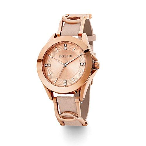 NOELANI Damen Analog Quarz Uhr mit Lederimitat Armband 2018942