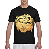 MAYAL Mens Counting Crows August and Everything After 3D Printed Short Sleeve T Shirts Black XXL