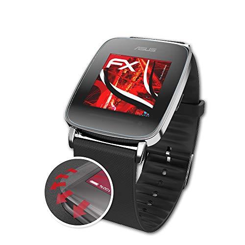 atFoliX Schutzfolie kompatibel mit Asus VivoWatch Folie, entspiegelnde & Flexible FX Bildschirmschutzfolie (3X)