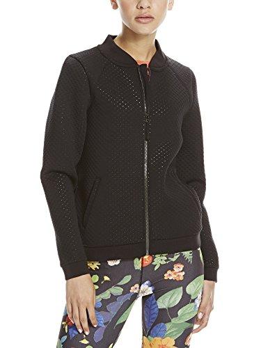 Bench Damen Collarless Softshell Trainingsjacke, Black, M