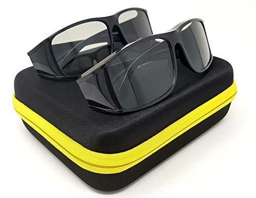 2x Hi-SHOCK passive 3D-Brille für 4K 3D TV kompatibel mit LG, Grundig, Philips oder AG-F420 / PTA417 / TDG500P / TY-EP3D20E / PX1821E-1TVA | inkl. Dualcase [ Polarisations-3D-Technologie]