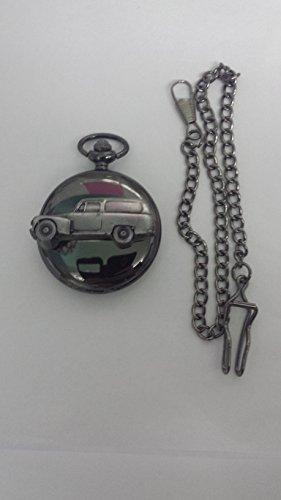 Volvo 445 Duet Van ref284 Emblema de efecto estaño negro pulido caja de regalo reloj de bolsillo de cuarzo para hombre hecho en Sheffield