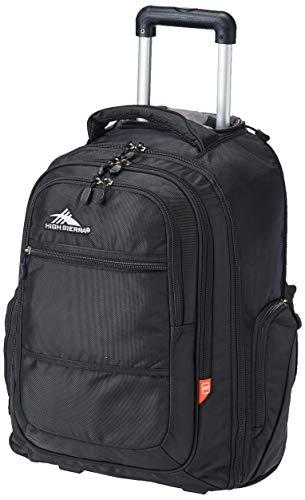 High Sierra Rev Rolling Backpack, One Size, Black