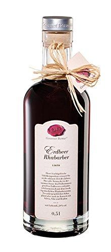 Erdbeer Rhabarberlikör 20%vol 0,5 l / Grundpreis 35,90 € pro Liter.