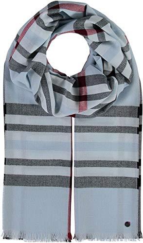 FRAAS Karierter Schal für Damen & Herren XXL - Made in Germany - Moderner Decken-Schal - The Plaid mit Karo-Muster Hellblau