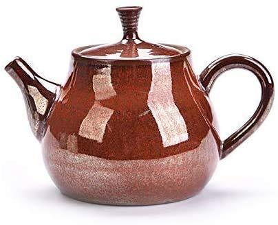 ZQADTU Tetera de cerámica, Tetera Individual, Todo Hecho a Mano, tamaño de Tetera de cerámica, Cuchillo, Juego de té de, Verde malaquita