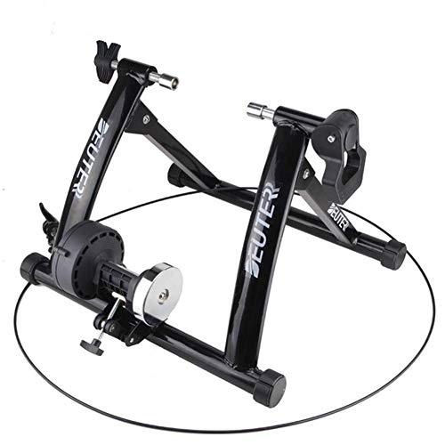 SHDS Bicicleta Rodillos Entrenador Inicio Ejercicio Entrenamiento Interior 6 Velocidad Resistencia magnética Bicicleta Entrenador Portátil Plegable Ciclismo