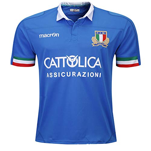 HYQ Camiseta De Rugby Copa del Mundo 2019-2020 Italia Local Hombres Verano Deportes Ocio Camisetas Transpirables Camiseta De Fútbol (S-3XL),L