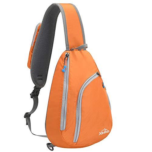 Xboun Sling Backpack Women Waterproof Chest Shoulder Bags Chest Bag Triangle Backpack for Man/Women - Orange