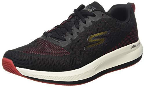 Skechers GO Run Pulse Strada, Zapatillas para Correr Hombre, Ribete Rojo sintético Negro, 43 EU
