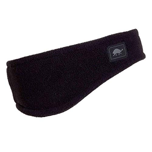 Turtle Fur Double-Layer Bang Band, Chelonia 150 Fleece Headband,Black,One Size