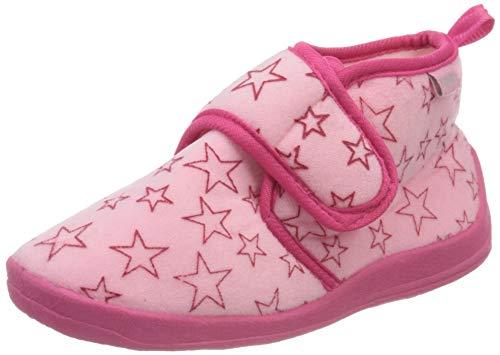 Playshoes Unisex Kinder Pastell Hausschuh, Pink (rosa 14), 18/19 EU