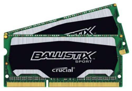 Ballistix Sport 8GB Kit (4GBx2) DDR3 1866 MT/s (PC3-14900) SODIMM 204-Pin Memory BLS2K4G3N18AES4
