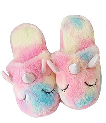 dressfan Lindas Unicornio Zapatillas Peluche Zapatillas Animale Zapatillas Unicornio Zapatillas niña Interior Zapatillas Espuma Zapatillas Niños Niñas