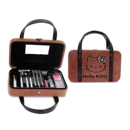 Sanrio - HK.0293.11 - Mallette de Maquillage - Hello Kitty - 21 Pièces de Cosmétiques