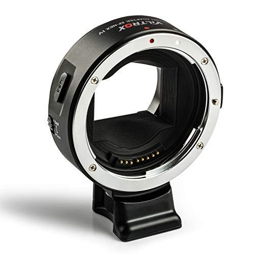 Viltrox Autofokus Objektivadapter EF-NEX IV, schneller CDAF/PDAF Konverter für Canon EF/EF-S Objektiv an Sony A9 A7RIII A7RII A7III A7II A6300 A6400 A6500 E-Mount DSLR Kamera