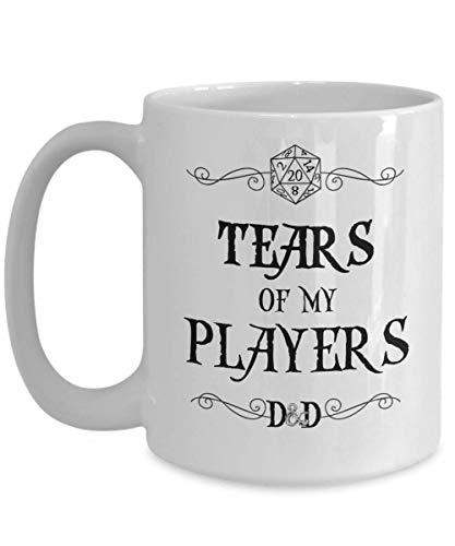 Tazza Dungeons and Dragons Tears of My Players Divertente tazza da caffè in ceramica bianca
