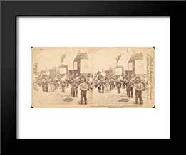 J. F. Jarvis - Underwood & Underwood - 18x15 Framed Museum Art Print- Pair of Stereograph Views of General Jacob S. Coxey's Army of The Unemployed