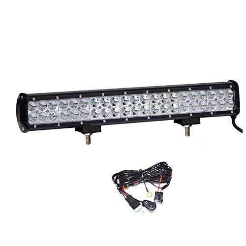 Simplive 20' 126W CREE LED Light Bar Flood Spot Combo Beam IP68 Waterproof Driving Fog Light for Truck Off Road SUV Boat 4x4 Jeep Lamp,2 Years Warranty